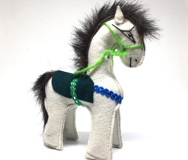 Wollen Horse toy